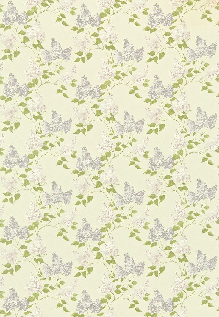 Lilacs (221958) - Sanderson Fabrics - A romantic design of fragrant lilac trees with a loose hand-painted effect, which co-ordinates with the wallpaper design. Shown in the Lilac / Rose colourway.  Please request sample for true colour match.