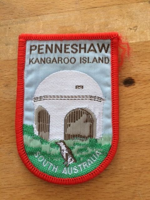Thi patch sold for $34 on ebay - Vintage Souvenir Cloth Patch/Badge Penneshaw Kangaroo Island South Australia EC in Collectables, Pins, Badges, Patches, Patches | eBay