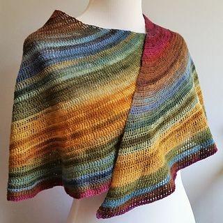 Spill - free crochet crescent shawl pattern by Jenn Wolfe Kaiser / Life  Adorned