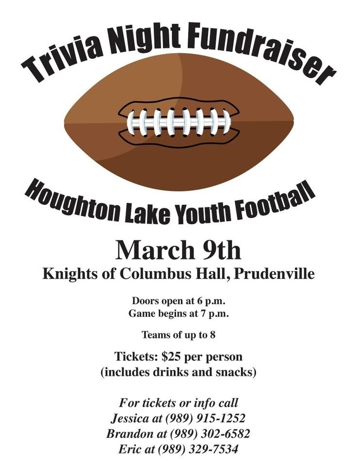 Houghton lake Youth Football Trivia Night Fundraiser on