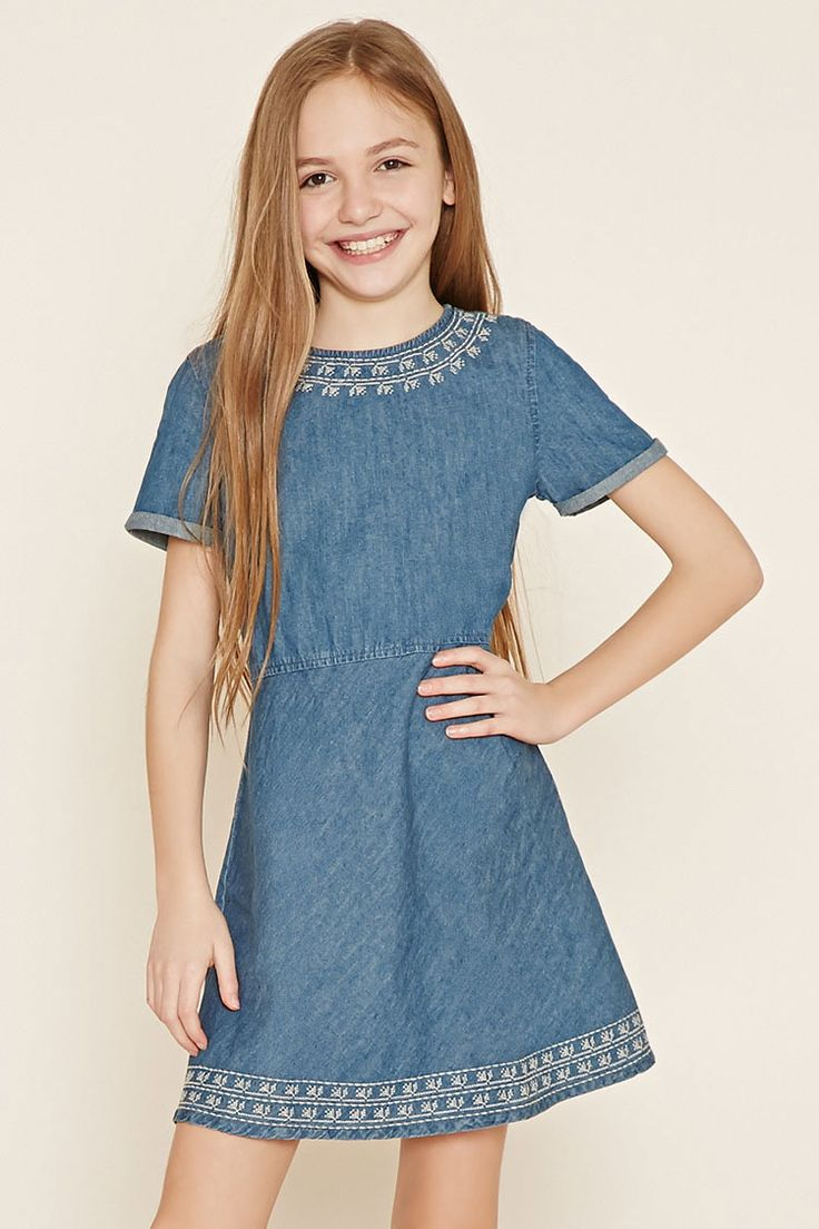 Girls Denim Dress (Kids) | Forever 21 girls - 2000178881