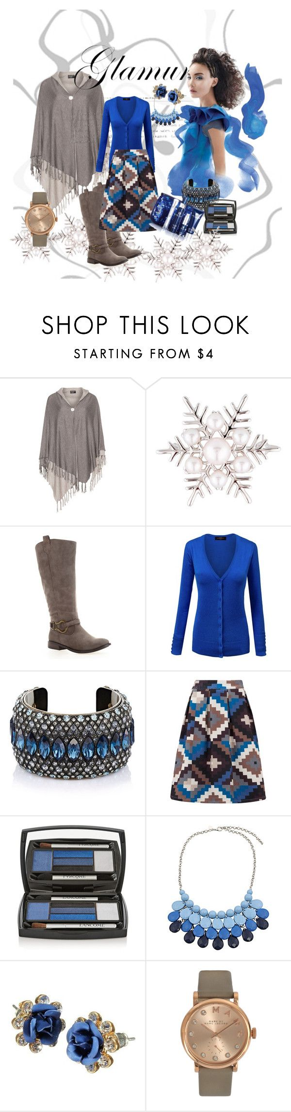 """""""blue"""" by berbicazemina ❤ liked on Polyvore featuring Mikimoto, Avenue, Lanvin, Almost Famous, Lancôme, Chicnova Fashion and Marc by Marc Jacobs"""