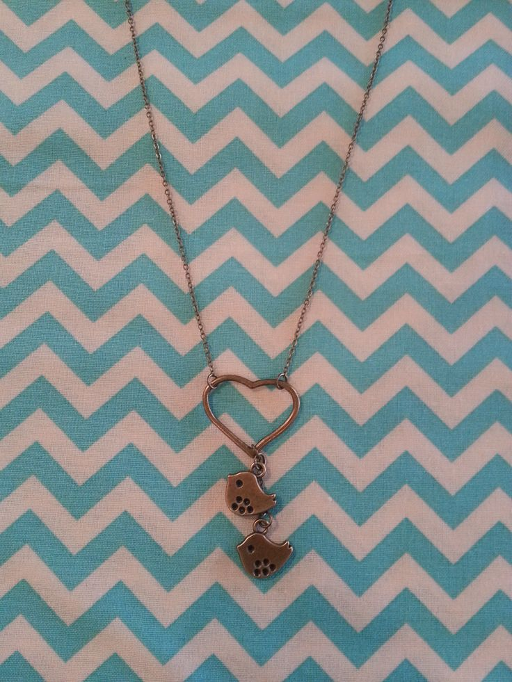 Birdie love heart necklace.