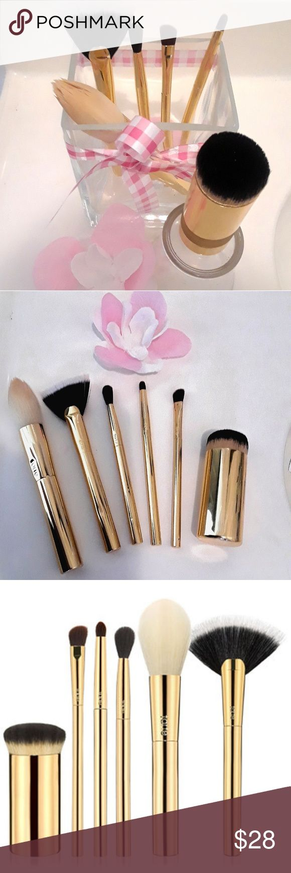 Limited Edition Tarte Brushes Create Flawless, Slay-Worthy Looks With The Tarte™ x @NicolConcilio Brush Set! Award Winning Beauty. Leader In Eco-Chic Beauty.I used 3 times. I clean the brushes Tarte Makeup Brushes & Tools