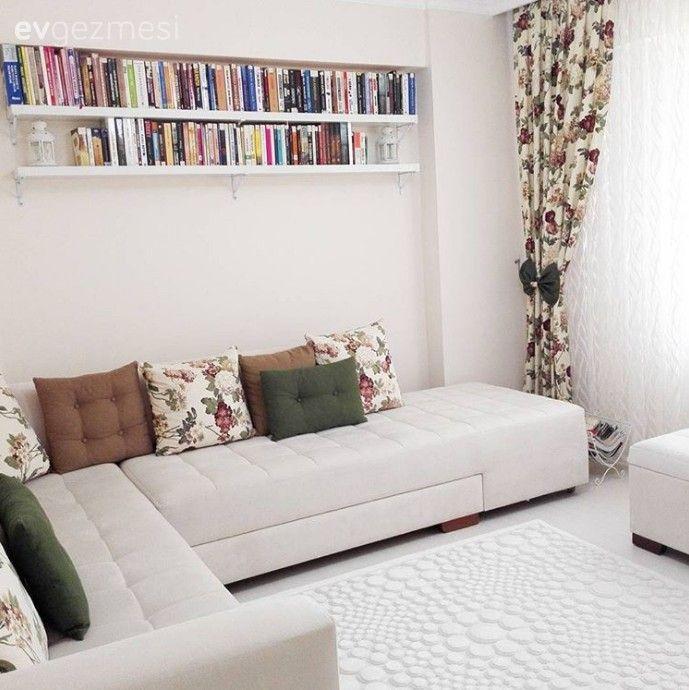 Çok sevdik: Kitap rafı ve kitapların dekorun ana elemanı olarak kullanımı..