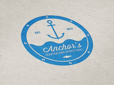 Anchor's Seafood and Sports Grill logo.