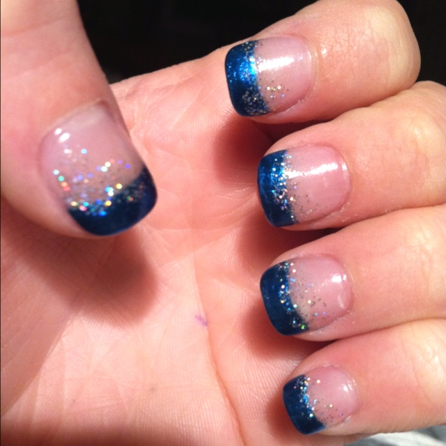 Blue Prom Nails French Tip: Pin By Taylor Dobbs On Things That Make Me Smile