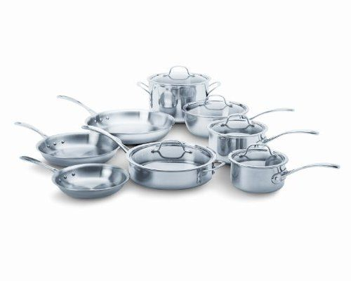 kitchen calphalon tri ply stainless steel 13 piece cookware set for and dining best reviews