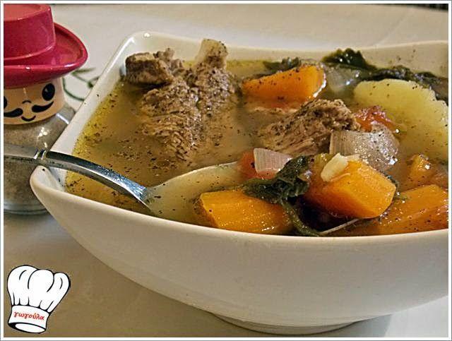 ΜΟΣΧΑΡΙ ΒΡΑΣΤΟ ΣΟΥΠΑ ΜΕ ΛΑΧΑΝΚΑ!!!   Νόστιμες Συνταγές της Γωγώς