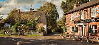 The square St.Mary Bourne near Whitchurch Hampshire.