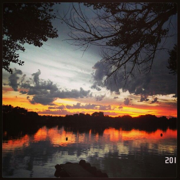 Sunset at the Vaal