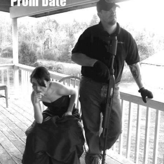 Prom date. This is Iron Mike Norton and his daughter, Steph. She is an ROTC college student now, and sells T-Shirts, cups, etc. with this picture to help pay tuition. Go to zazzle.com/locker32 to get yours!