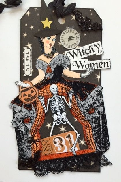 2015 Halloween Tag Swap - stamps by Catherine Moore for Character Constructions