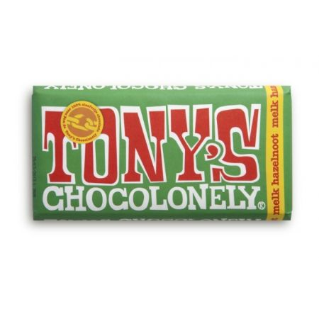Tony Chocolonely ~ My favorite: milk and hazelnuts