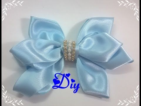Laço de fita de cetim \ Satin ribbon bow - YouTube