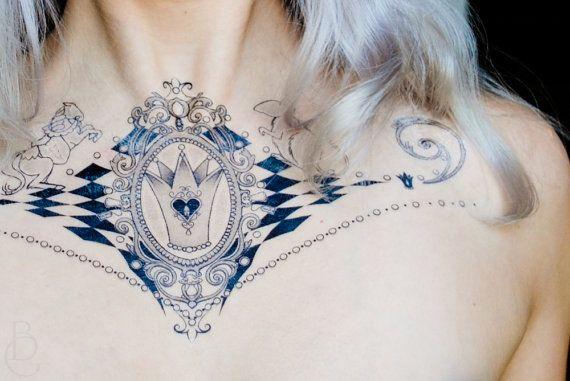 Tatouage temporaire de la reine blanche alice au pays des merveilles pays des merveilles - Tatouage alice au pays des merveilles ...
