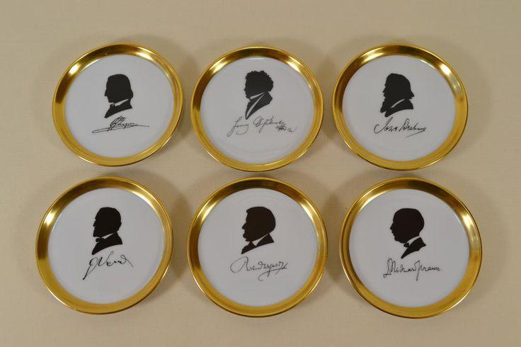 Коллекционные тарелки Шопен Вагнер Шуберт силуэт