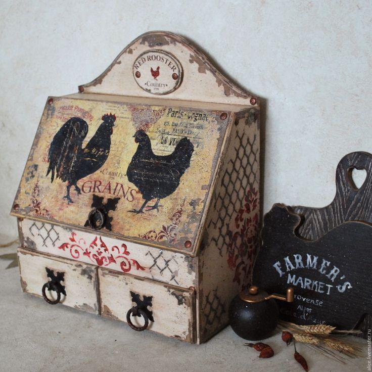 Купить Maison en Provence хлебница-шкафчик для кухни - бежевый, цвет топленого молока, хлебница