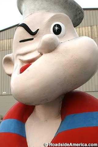 Popeye Statue in Springdale, Arkansas