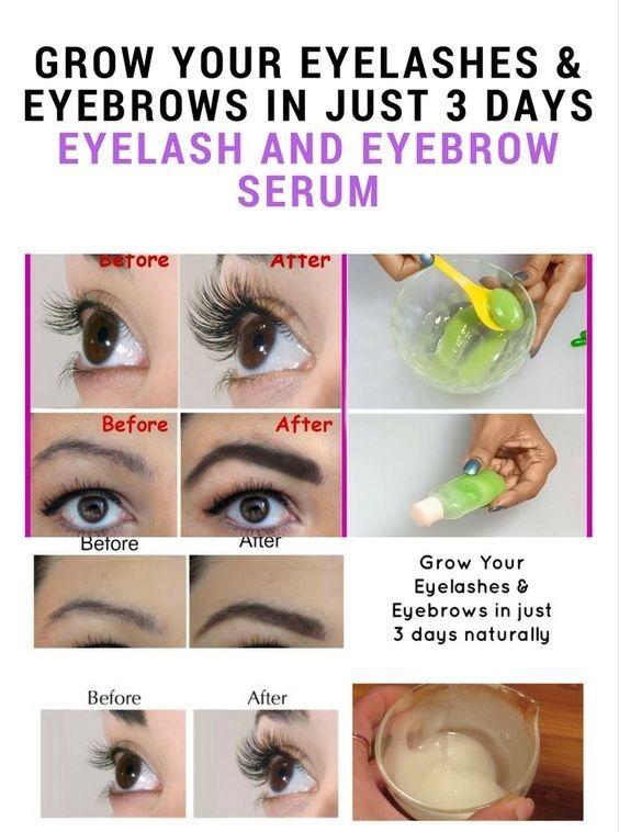 3 Ways To Grow Longer Eyelashes Naturally Long Eyelashes And Eyebrow