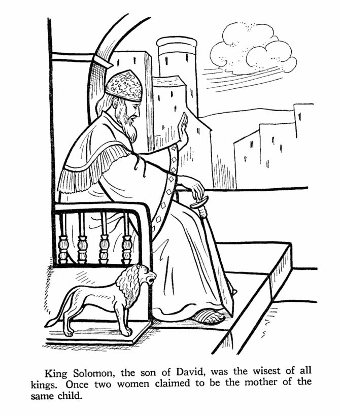 king solomon coloring picture