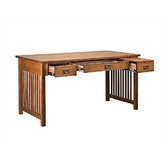 """Found it at Wayfair - Craftsman Home Office 60"""" W Deluxe Computer Library Desk"""