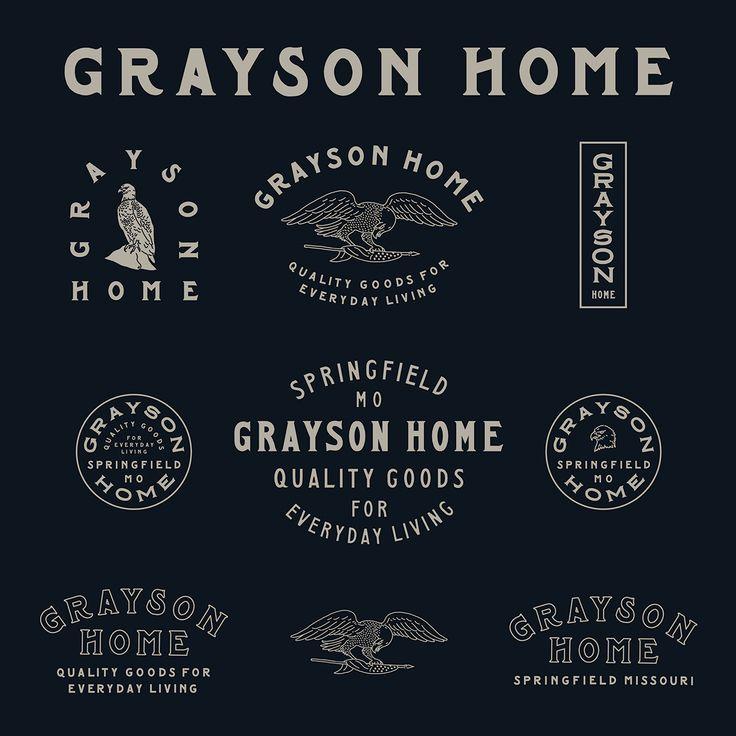 Grayson Home #Logo #Variations #Type