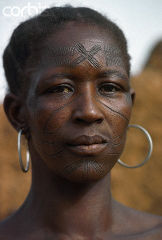 Abstract thinking Facial scarring in fulani tribe