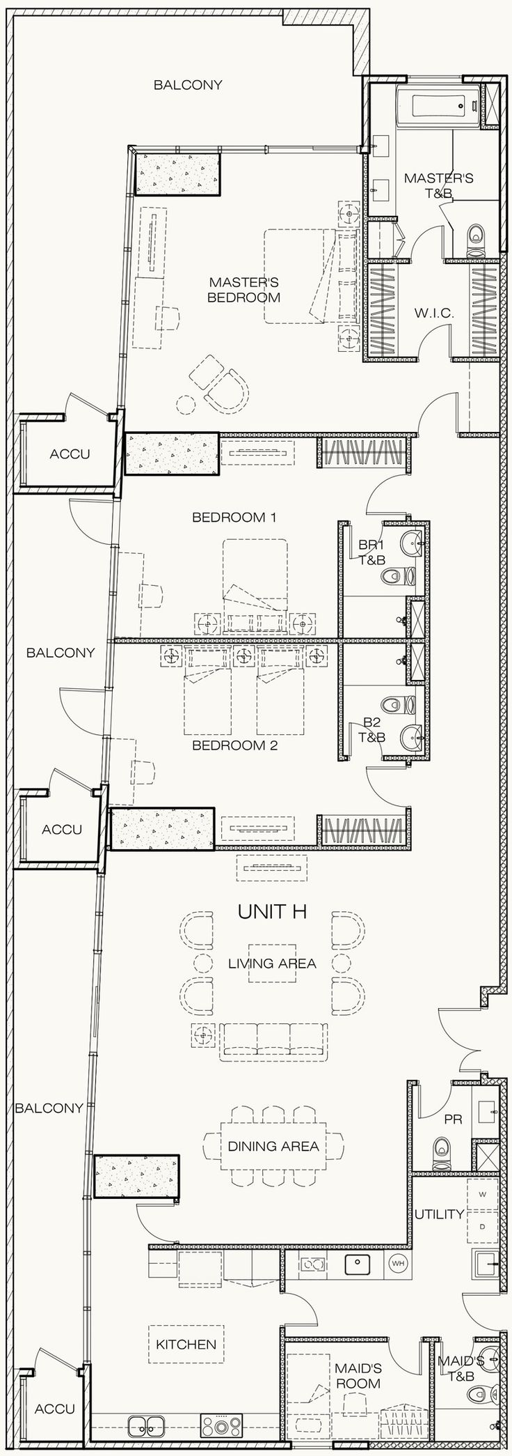 9 best west gallery place unit floor plans images on for 3 bedroom unit floor plans