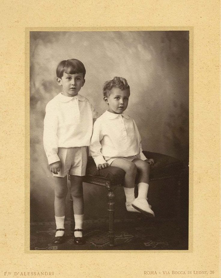 D'Alessandri studio Two boys dressed for Sunday Orig. Platinum photo 1900c XL250