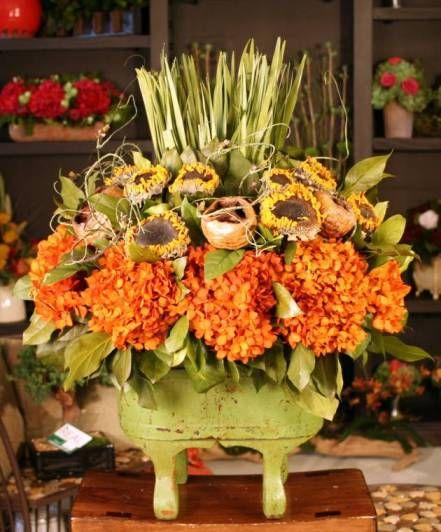 17 best images about hanging baskets on pinterest floral Fall floral arrangements