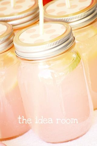 Take a mason jar lid, an a hammer and large nail and put a hole in the middle of the round lid, big enough for a straw. Cut some cute scrapbooking paper to fit the cover, and punch a hole in the spot for the straw. Fill with desired drink and enjoy!