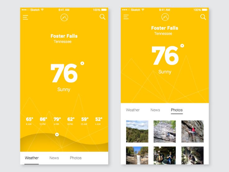 Rebounded off the weather app concept by Ghani Pradita. The photos part would show instagram pictures of user who have been at the climbing area recently and posted images. Still playing around wit...