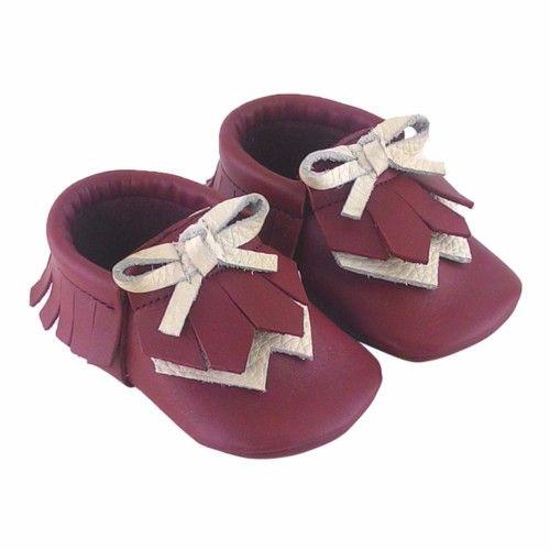 Navaho Makosen Bebek Ayakkabı Bordo - Sanatkardan
