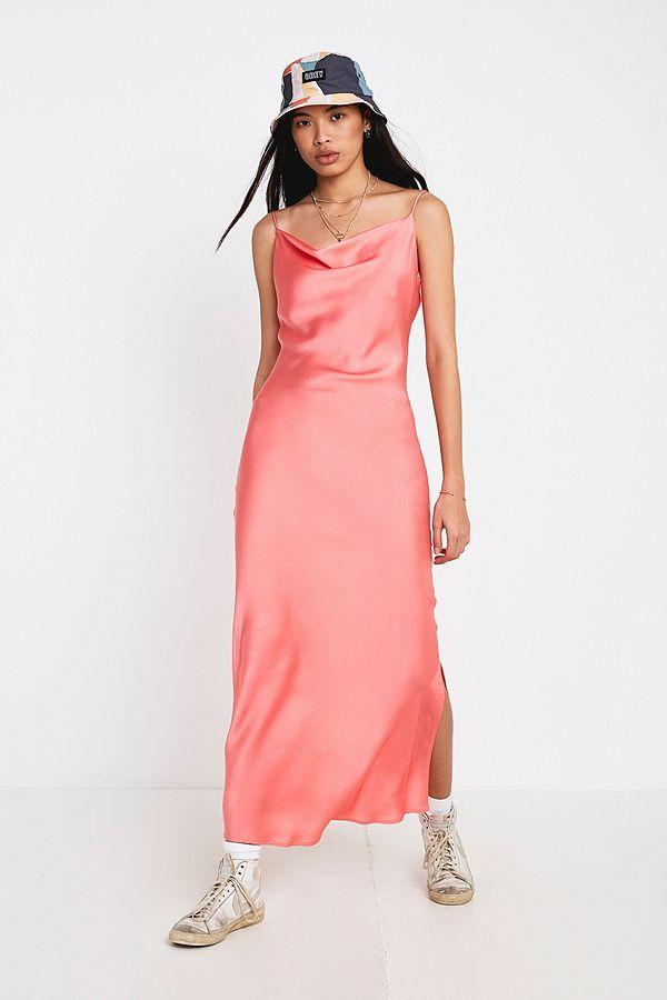 517eb4bb1797 NARRATED Satin Slip Dress in 2019 | DRESS | Dresses, Satin slip, Slip on