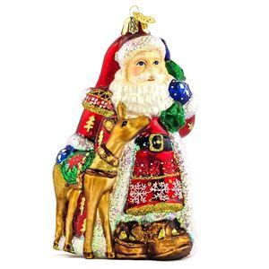 Nordic Santa Old World Christmas Glass Hand Blown Ornament Holiday Gift Idea