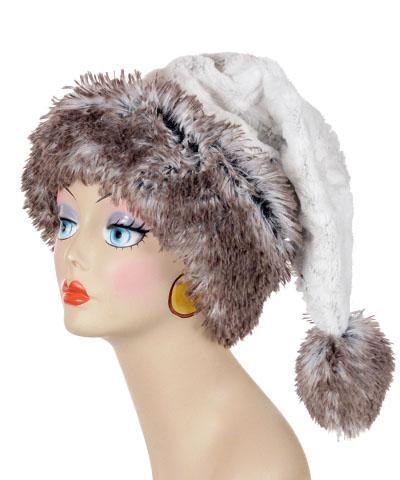 2bca942c3cbf8 Santa Hat Style - Luxury Faux Fur in Winters Frost with Arctic Fox - - Hats  - Pandemonium Millinery  pandemoniummillinery  shoppandemonium  gofaux ...