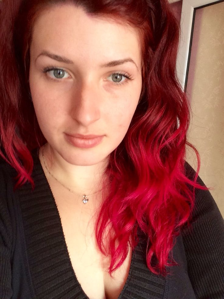 Me...pink and red hair