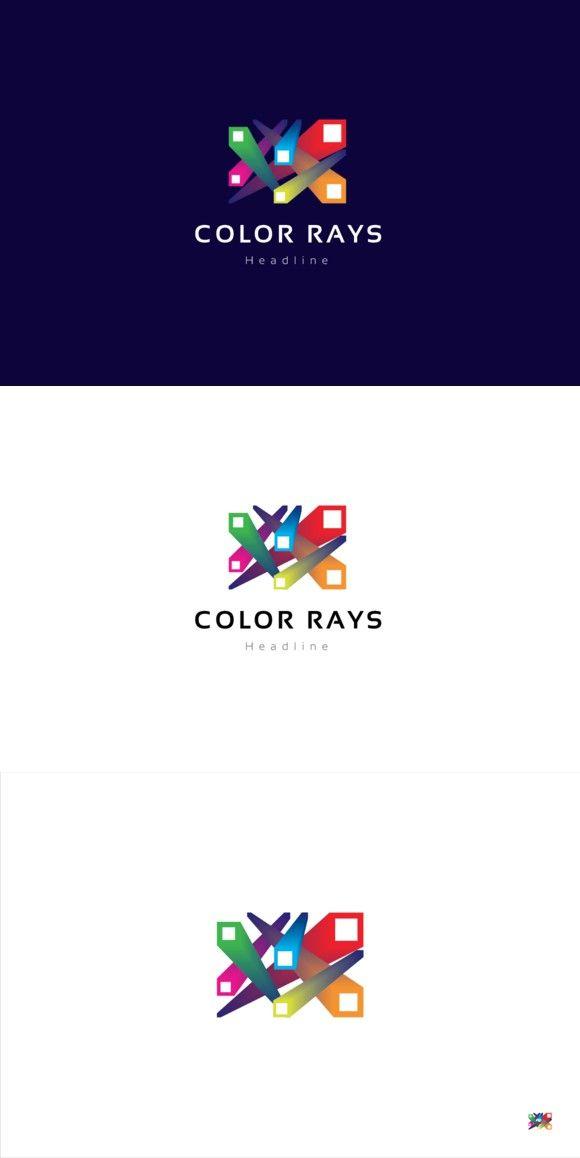 Color rays logo.. Logo Templates. $29.00