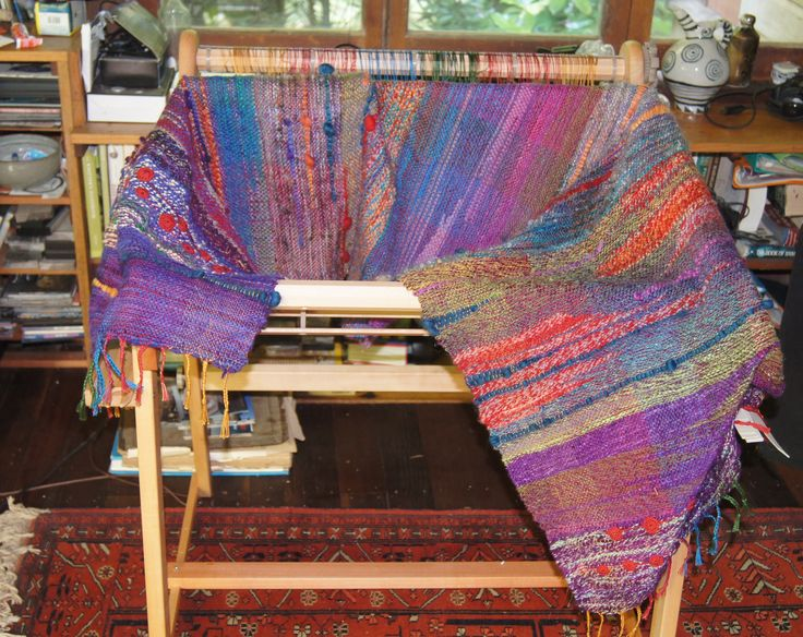 My first rigid heddle loom project - Saori weaving