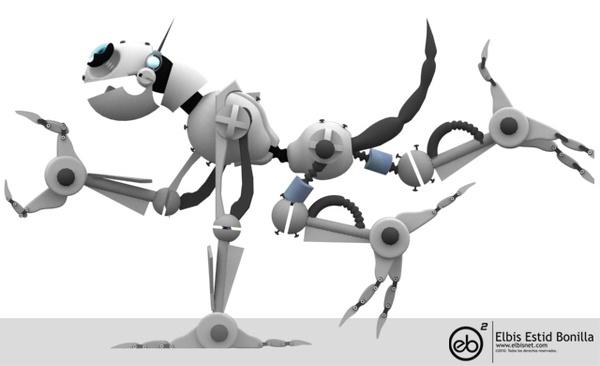 Personajes en 3d by Elbis Estid Bonilla Bonilla, via Behance