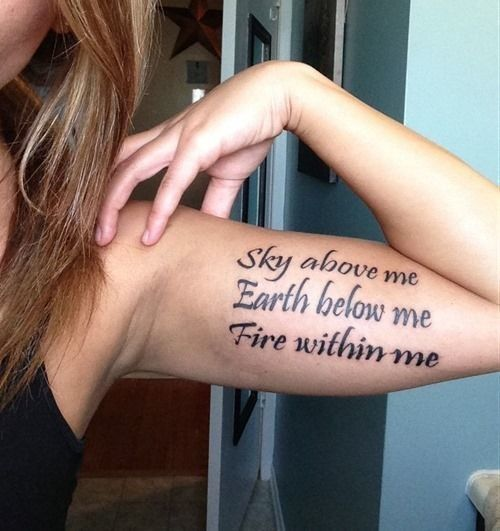 Fuel the Inner Fire - The Most Inspiring Quote Tattoo Ideas on Pinterest - Photos