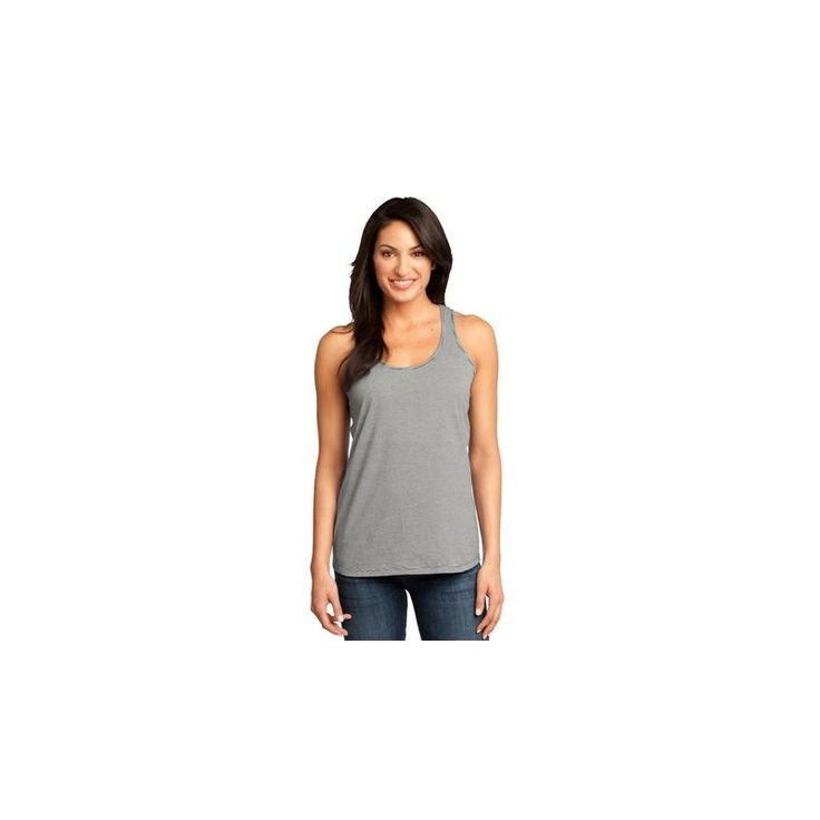 District Made - Ladies Mini Stripe Gathered Racerback Tank. DM421 For pricing please contact us at adaprint.com or via phone 281-353-4646.  https://www.houstonprint.com/100-cotton/848-district-made-ladies-mini-stripe-gathered-racerback-tank-dm421.html