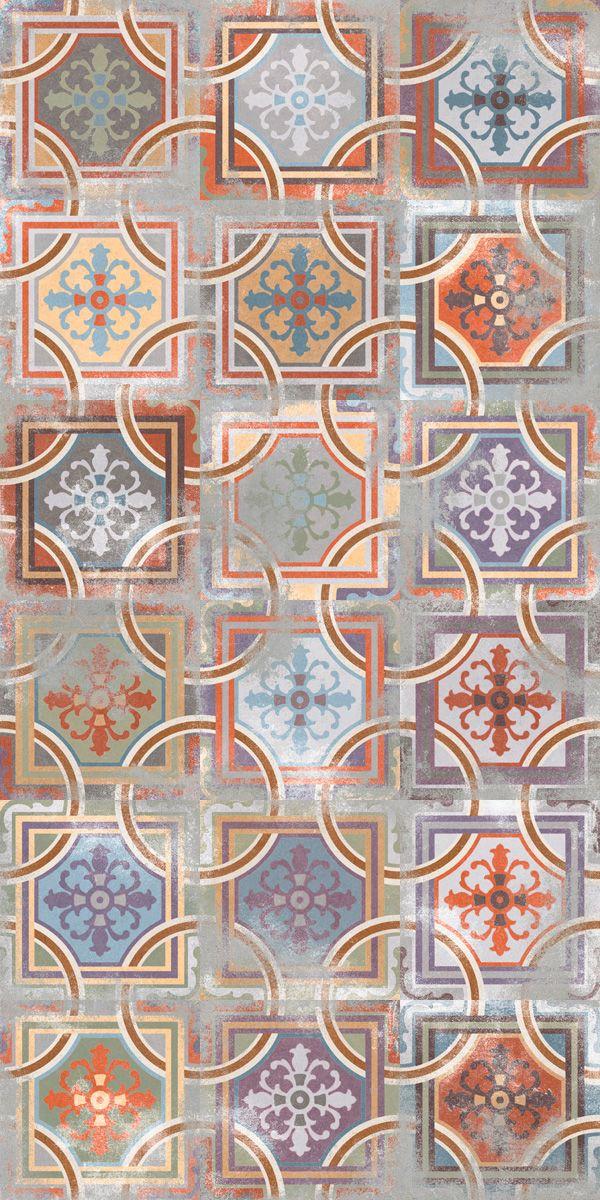 Erg leuke mix van verschillende tegels 20x20. Te zien als vloervlak in de showroom van Tegelhuys Wijhe (13) Tegelhuys