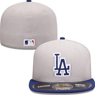 Los Angeles Dodgers New Era MLB Diamond Tech 5950 Fitted Hat (Gray) 83d5ba5c93dd