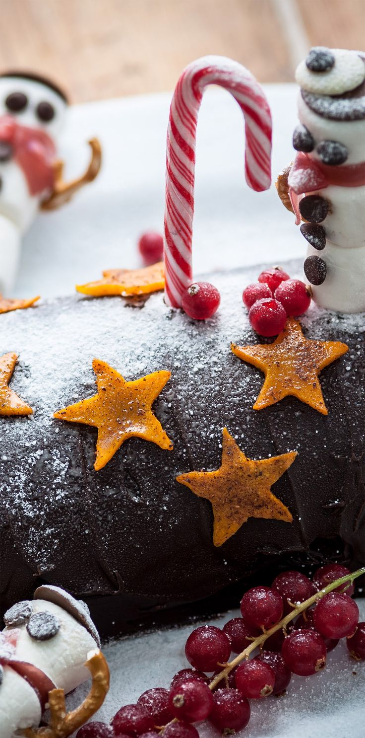 The ultimate Christmas cake for chocolate fans and kids alike, Colin McGurran combines several baking favourites into one ultimate cake.