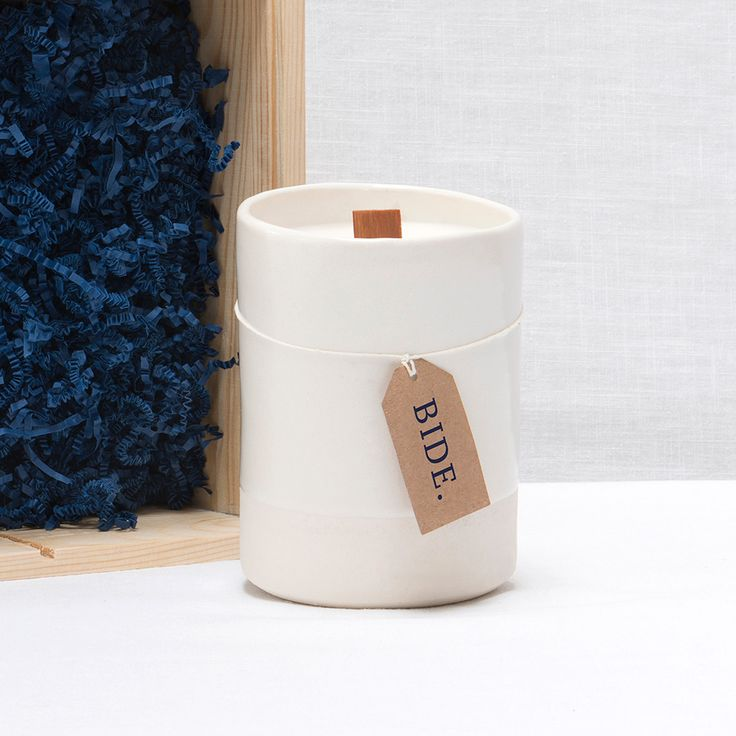 Handmade in Ayrshire this peat scented candle is from the BIDE collection by Urban Reivers - an accessories and homeware range that connects with the fabric of Scotland's landscape, culture and craftsmanship.  Offering a feast for the senses with a nod to the past it comes in a hand-crafted ceramic pot enticingly presented in a robust wooden box. The wooden wick crackles as it burns to evoke the sound and smell of a traditional open fire in the Highlands and Islands of Scotland.