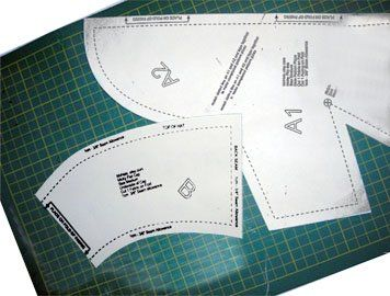 Sewing angles and curves can result in puckering when one angle is more than 90 degrees and one is less as for a driving cap. Step by step tips.