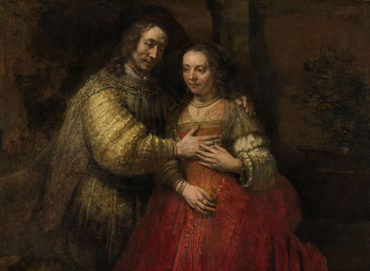 Portrait of a Couple as Isaac and Rebecca, known as 'The Jewish Bride', Rembrandt Harmensz. van Rijn, c. 1665 - c. 1669