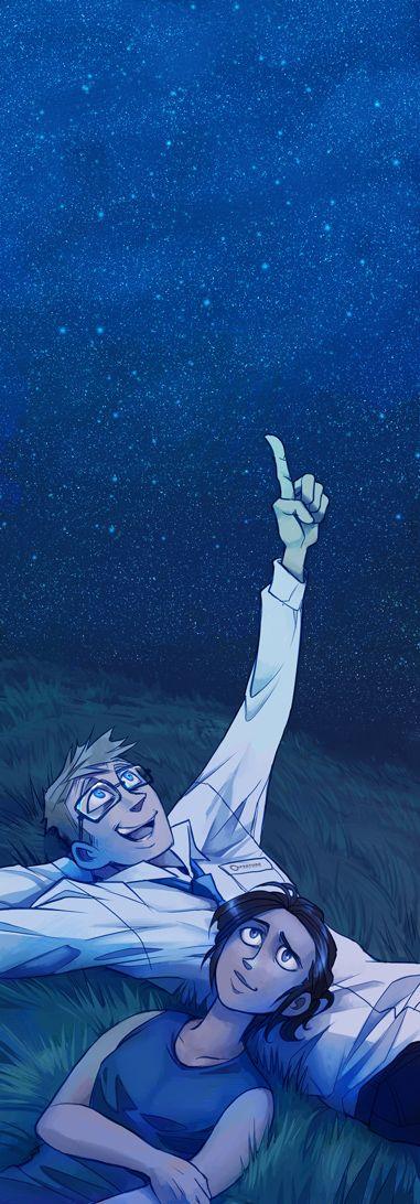 Blue Sky: Stargazing by pinali.deviantart.com on @deviantART